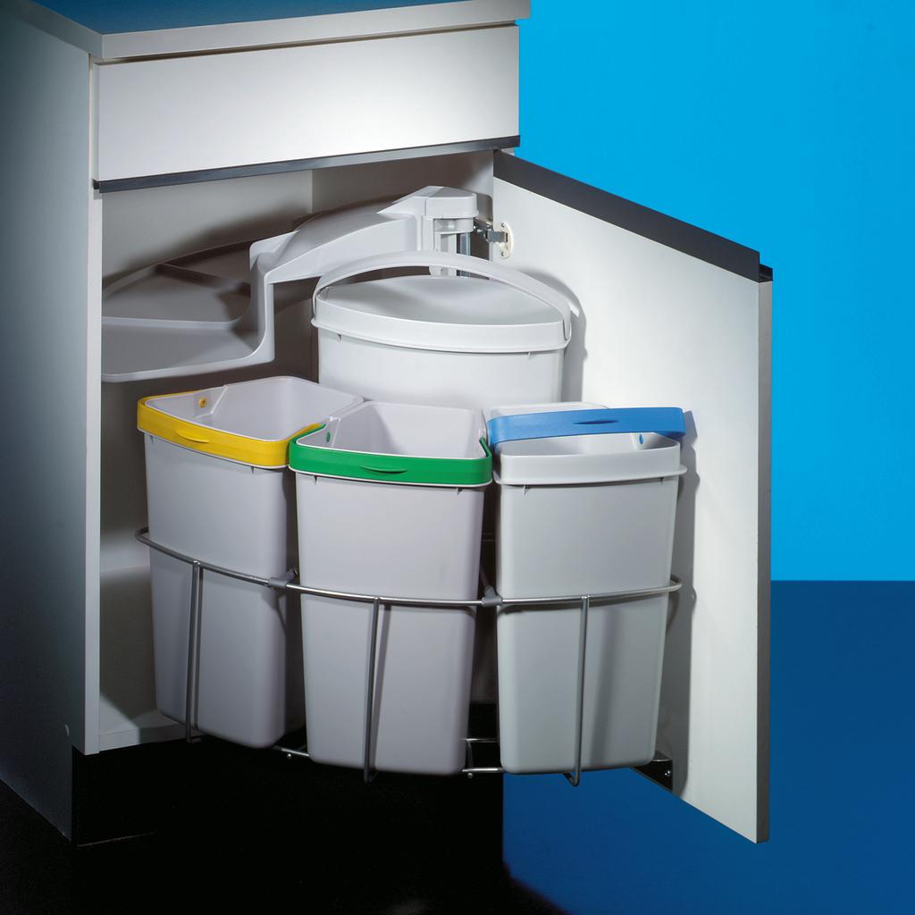 Cabbi® 4, Abfallsammler für Schwenktechnik, hellgrau