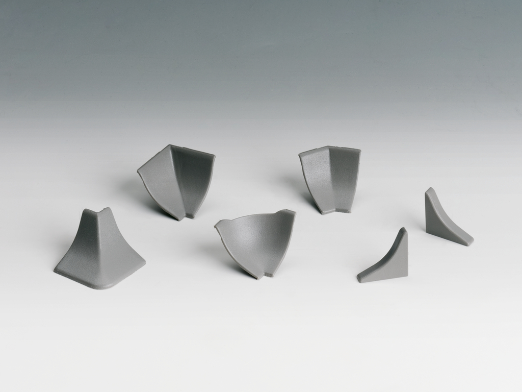 System Piccolo 14 Zubehörset, Wandanschlussprofil, grau für edelstahlfarbig
