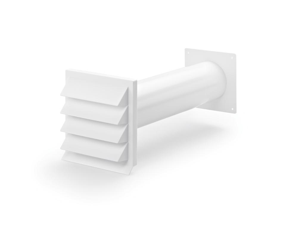 K-Klima-R 100/100 Mauerkasten, weiß