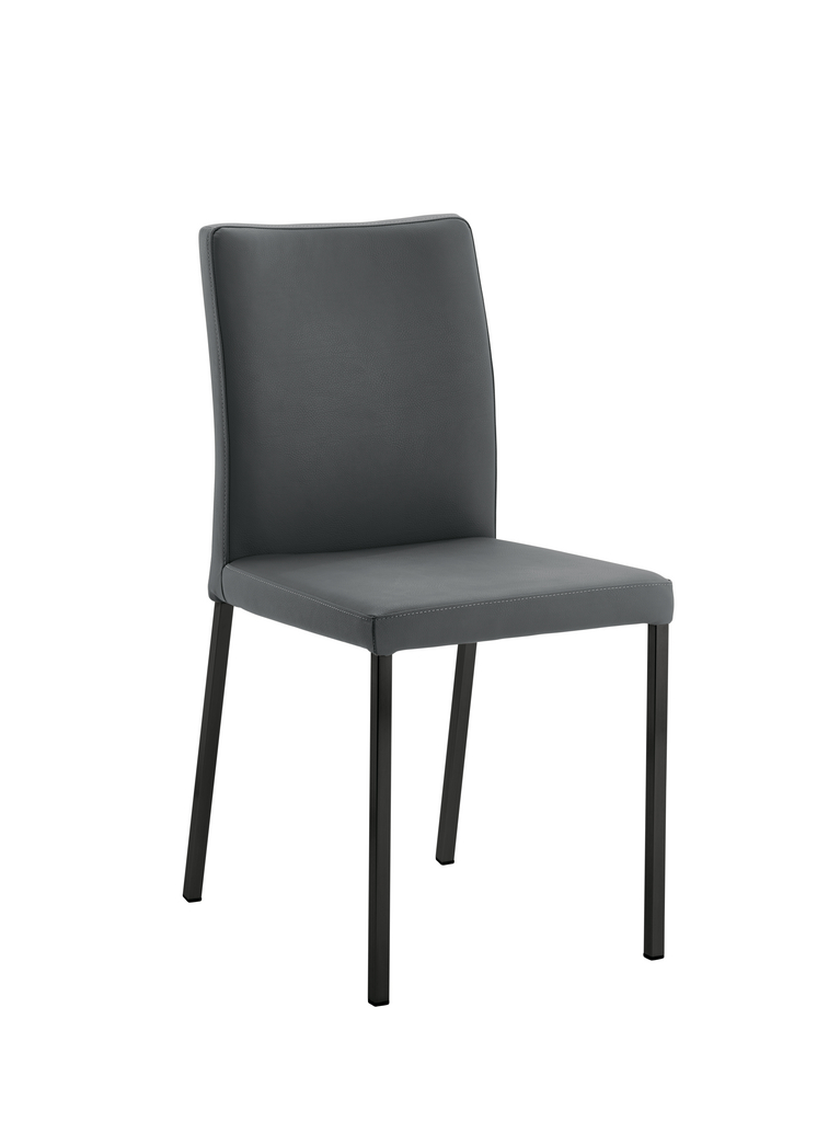 Borsa 1, Stuhl, Gestell schwarz, Bezug anthrazit hell
