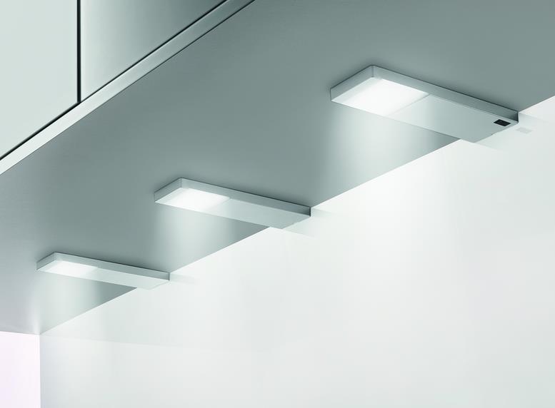 Yolo Neo LED edelstahlfarbig, Unterboden-/Nischenleuchte, Set-3, 4000 K neutralweiß