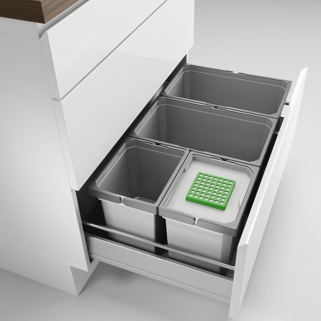 Cox® Box 235 S/800-4 Bio, Abfallsammler für vorhandene Auszüge, hellgrau