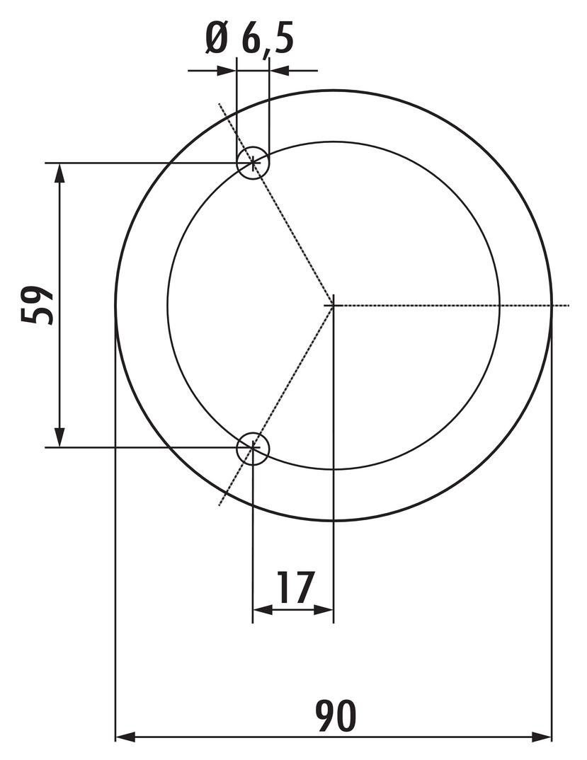 Capitello 1, Konsole, Edelstahl, H 195 mm, Rohr-Ø 45 mm