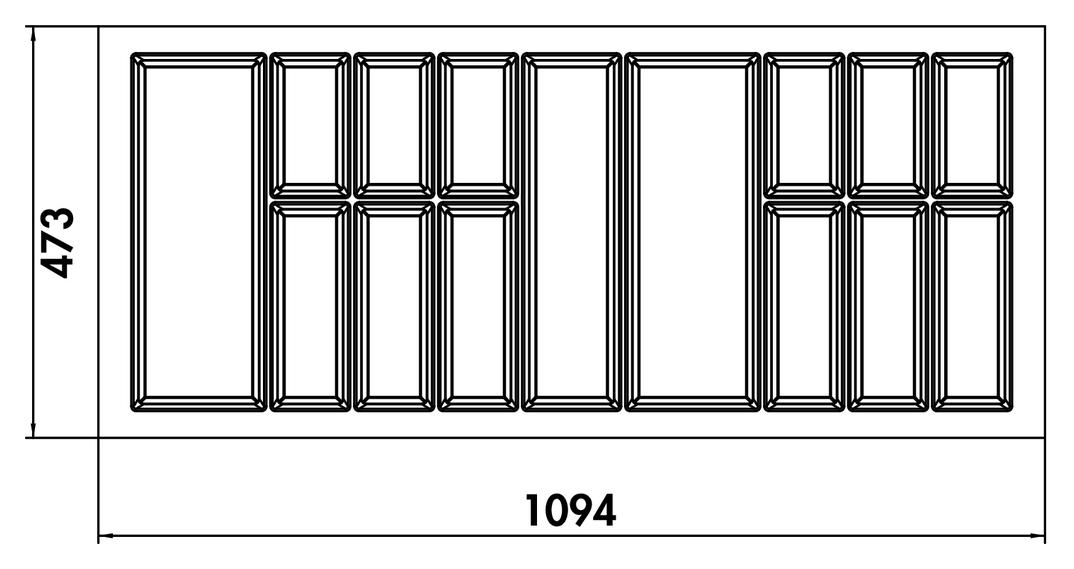 Adesso 1, Besteckeinsatz, für 1200er Schrank