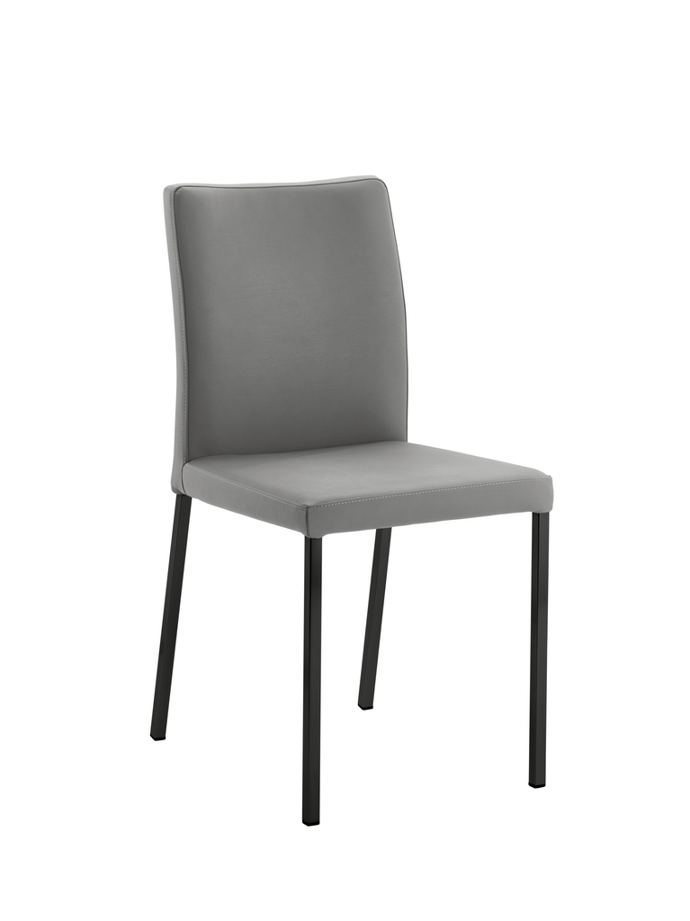 Borsa 1, Stuhl, Gestell schwarz, Bezug hellgrau