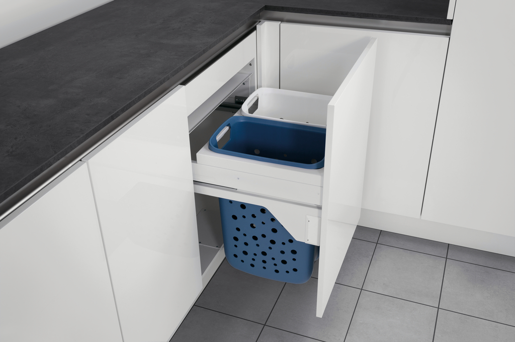 Tidy Wäschebehälterauszug S 600, Schrankausstattung, weiß/hellblau
