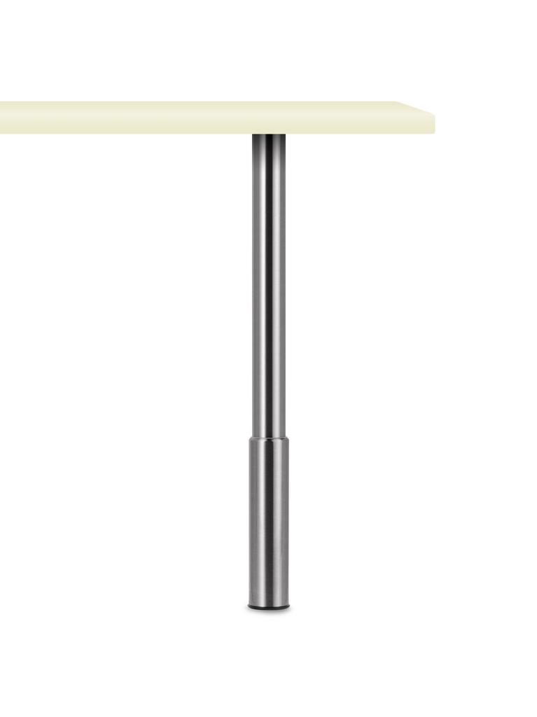Trampolo 1 rund, Stützfuß, edelstahlfarbig, H 620 - 800 mm