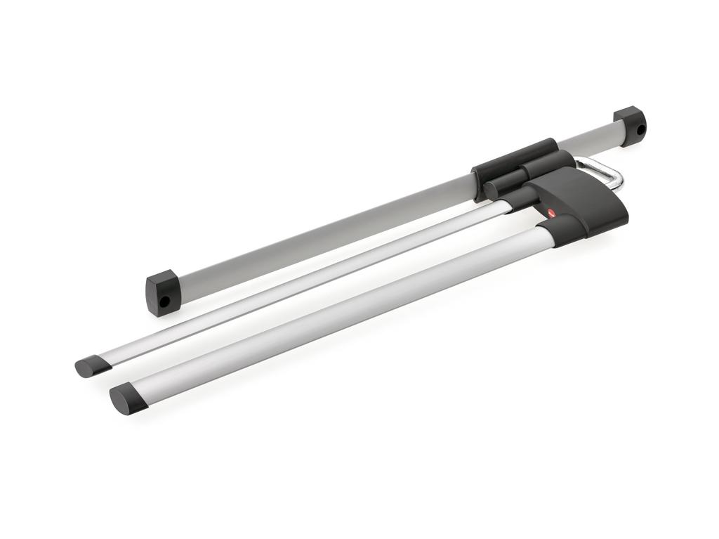 Handtuchhalter Secco AluLine, Handtuchhalter, 2-armig, B 122 mm, alu/graphitgrau
