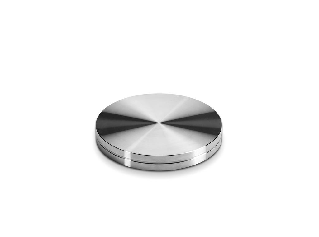 Glasadapterscheibe, Sockelfuß, Edelstahl, Ø 90 mm