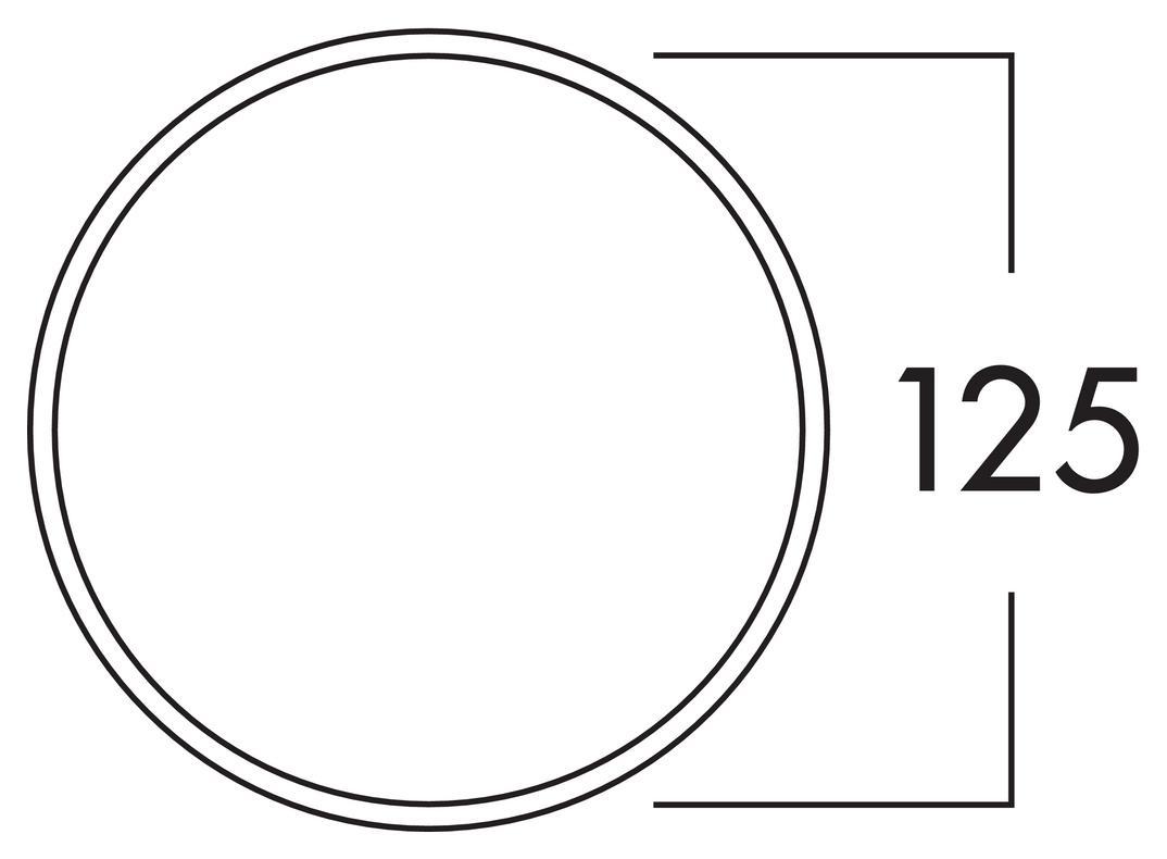 125 Maueranschlussstutzen 1, Verbindungselement, weiß