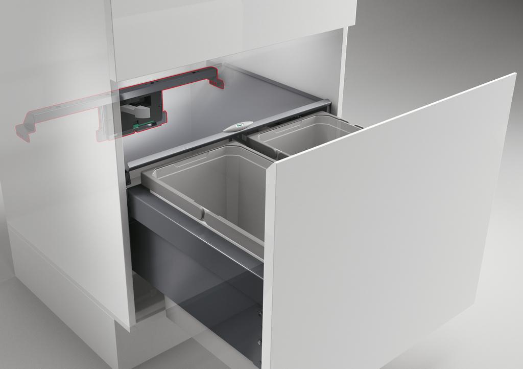 Cox Cick-E® 600, Auswerfer für Frontauszüge, B 600 mm, dunkelgrau/chrom matt