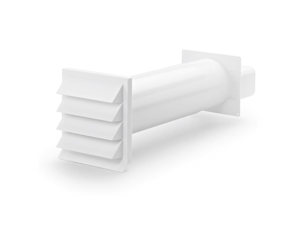 K-Klima-R flow 125 Mauerkasten, weiß