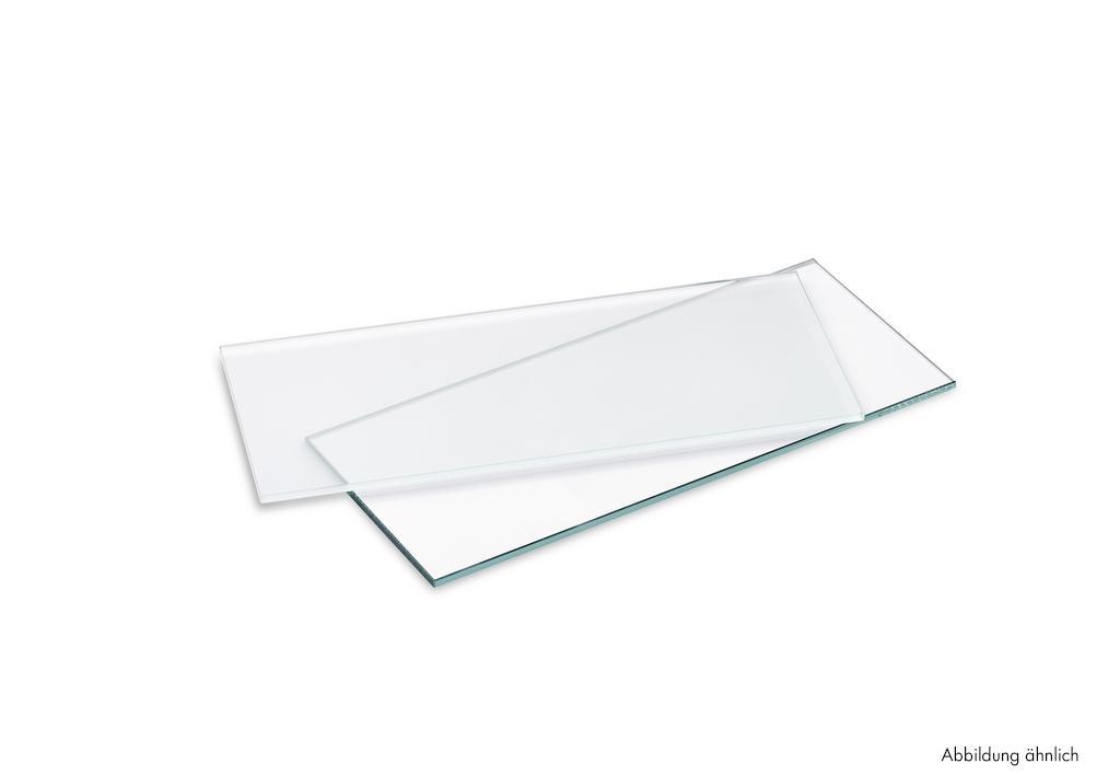 Glastablar, Tablarträger, Glas satiniert, L 880 mm