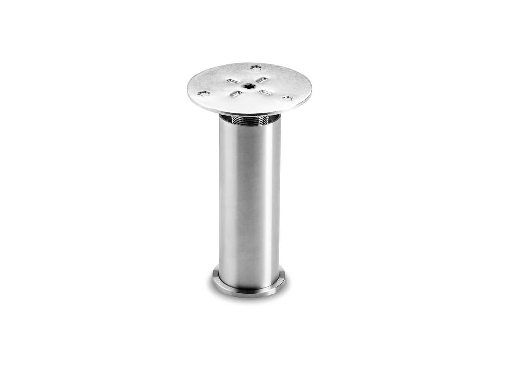 Cippo, Sockelfuß, Edelstahl, H 145 mm