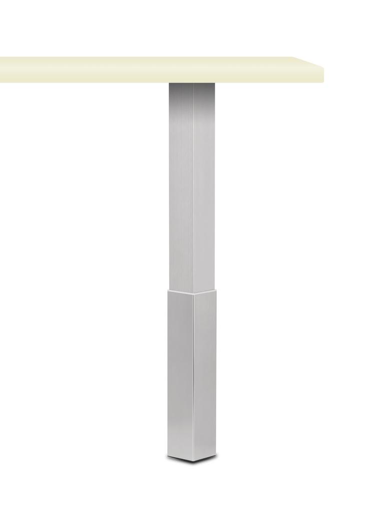 Trampolo 2 eckig, Stützfuß, edelstahlfarbig, H 620 - 800 mm