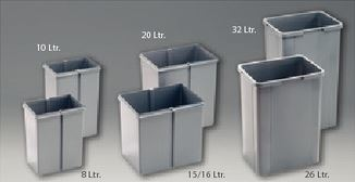 WESCO Ersatzeimer 8 ltr. Alugrau B225 x T150 x H290 mm