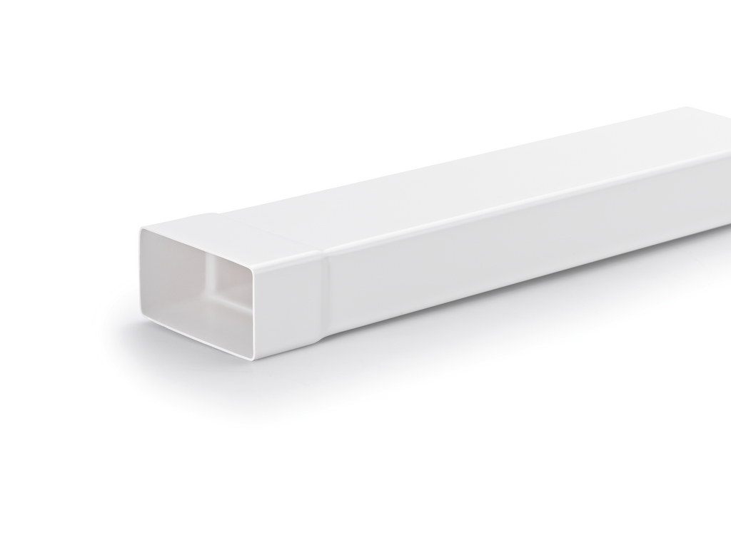N-VRM 100 Lüftungsrohr mit Muffe, weiß, L 500 mm