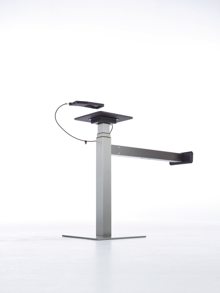 Ergo Agent Mono, Tisch, grau metallic