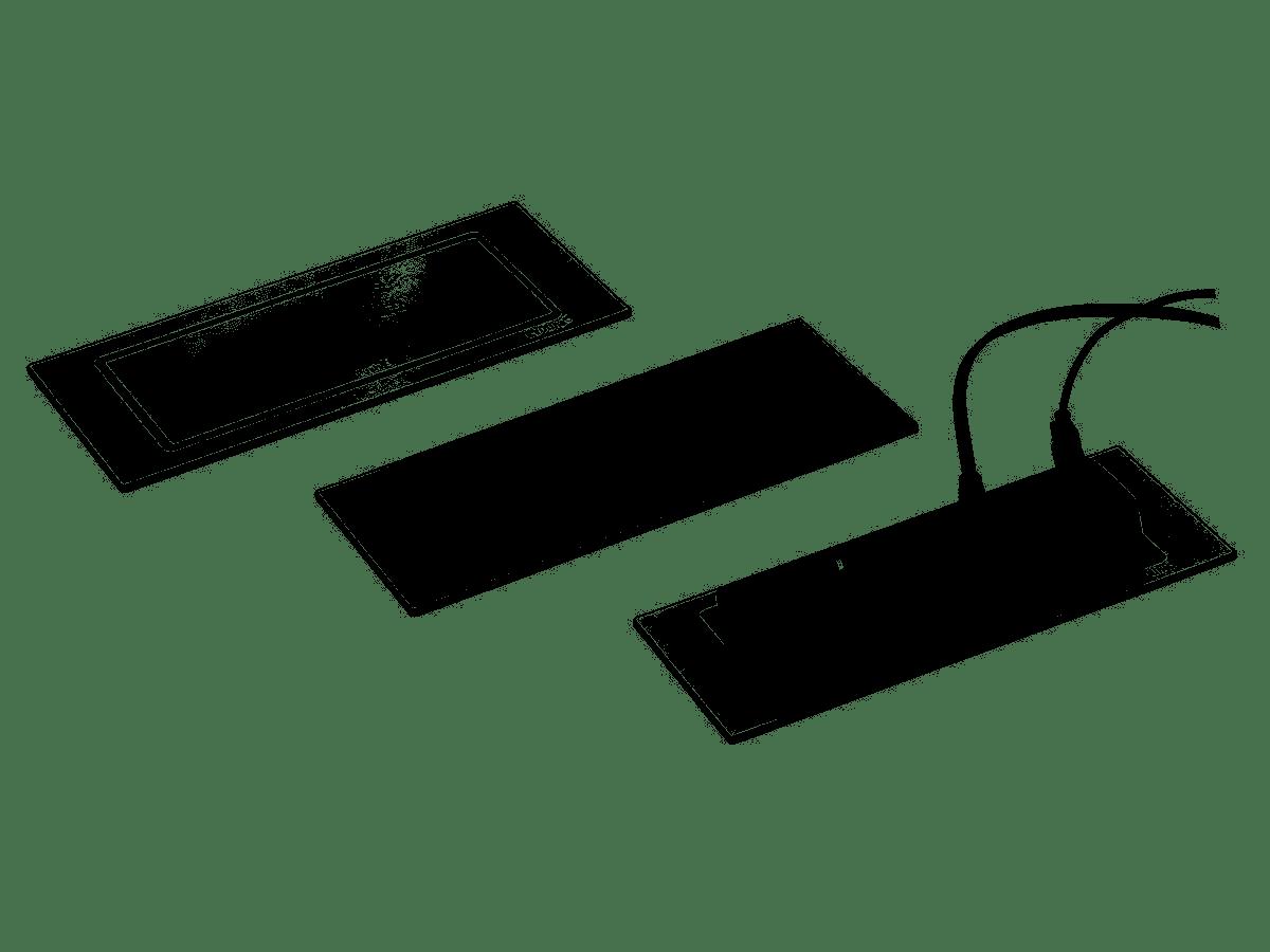 Steckdose EVOline® BackFlip Edelstahloptik inkl. USB