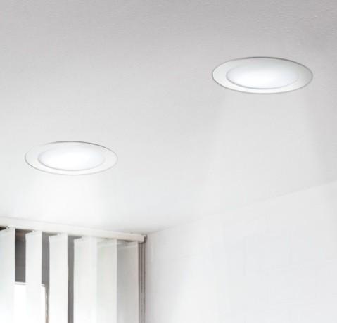 Plana LED, Einbauleuchte, weiß