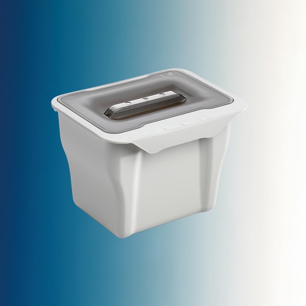 Kitchen Box, Abfallsammler für Drehtüren, alu grau