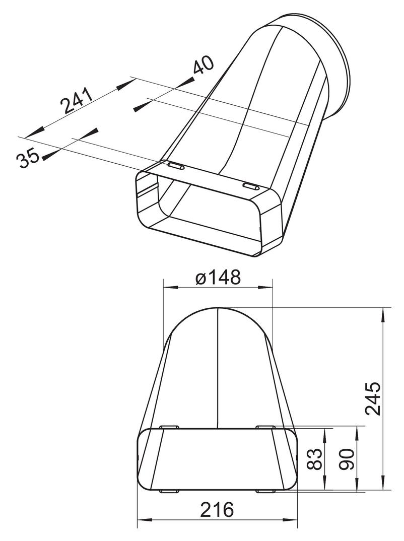 SF-VEST 150 Versatzendstück, Verbindungselement, verzinkter Stahl
