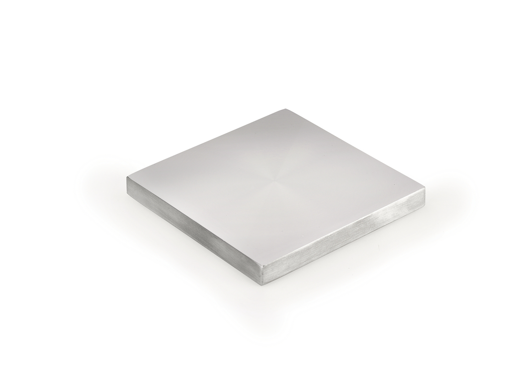 Glasadapterscheibe, Aluminium, 110 x 110 mm