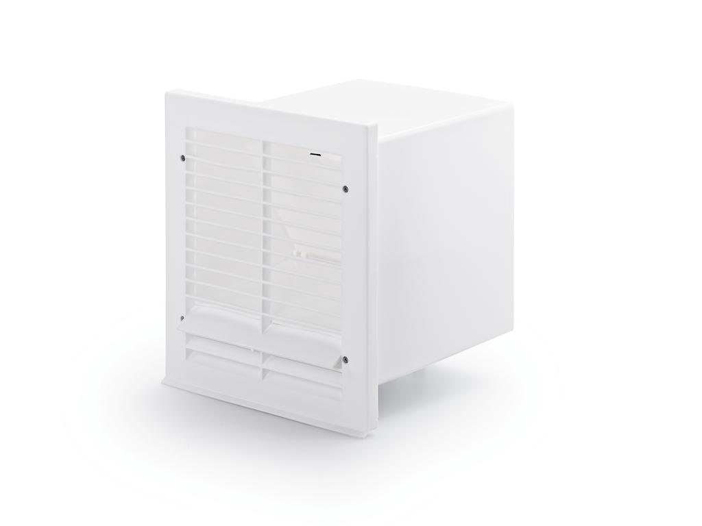 V-Klima A/Z 125 Ab- und Zuluft-Mauerkasten 2, weiß