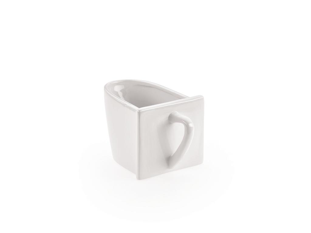 Keramikschütte, Schütte, glatt, weiß