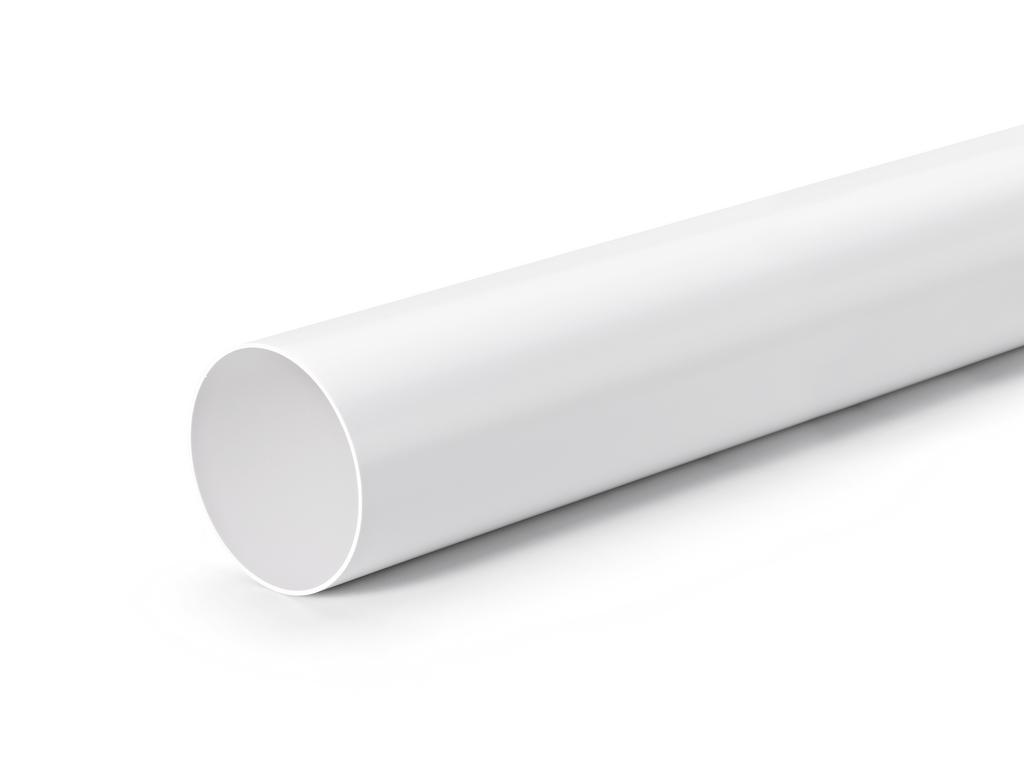 Rundrohr 100, Lüftungsrohr, weiß, L 350 mm