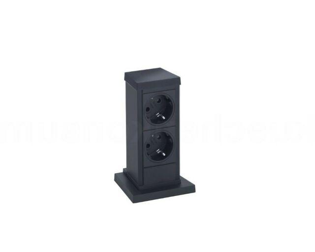 EVOline® Up, 2 Steckdosen schwarz