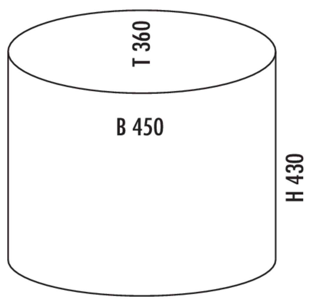 Beta, freistehender Behälter, silber