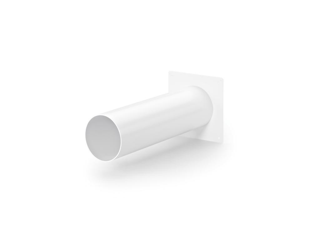 System 100 Maueranschlussstutzen 1, Verbindungselement, weiß