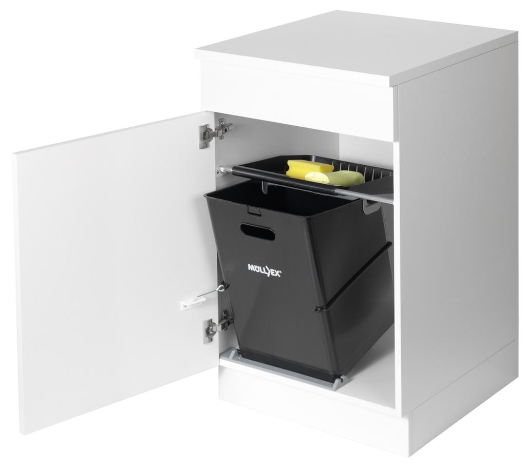 Müllex Single 35, Abfallsammler für Schwenktechnik, schwarz