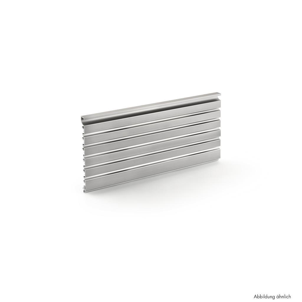 Presa Lüftungsgitter, H 130 mm, Lüftungsquerschnitt ca. 217,6 cm²/m, edelstahlfbg. eloxiert