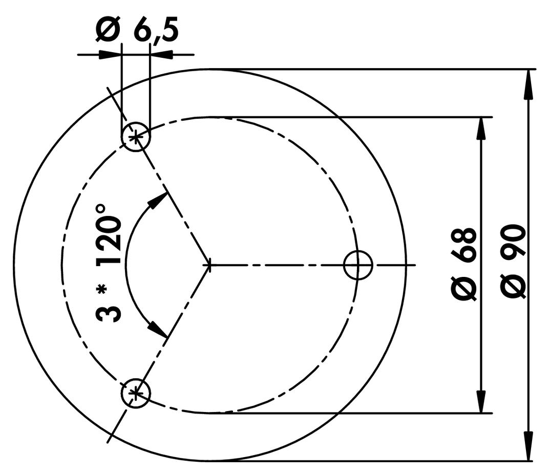 Colonna, Stützfuß, Edelstahl, H 1160 mm