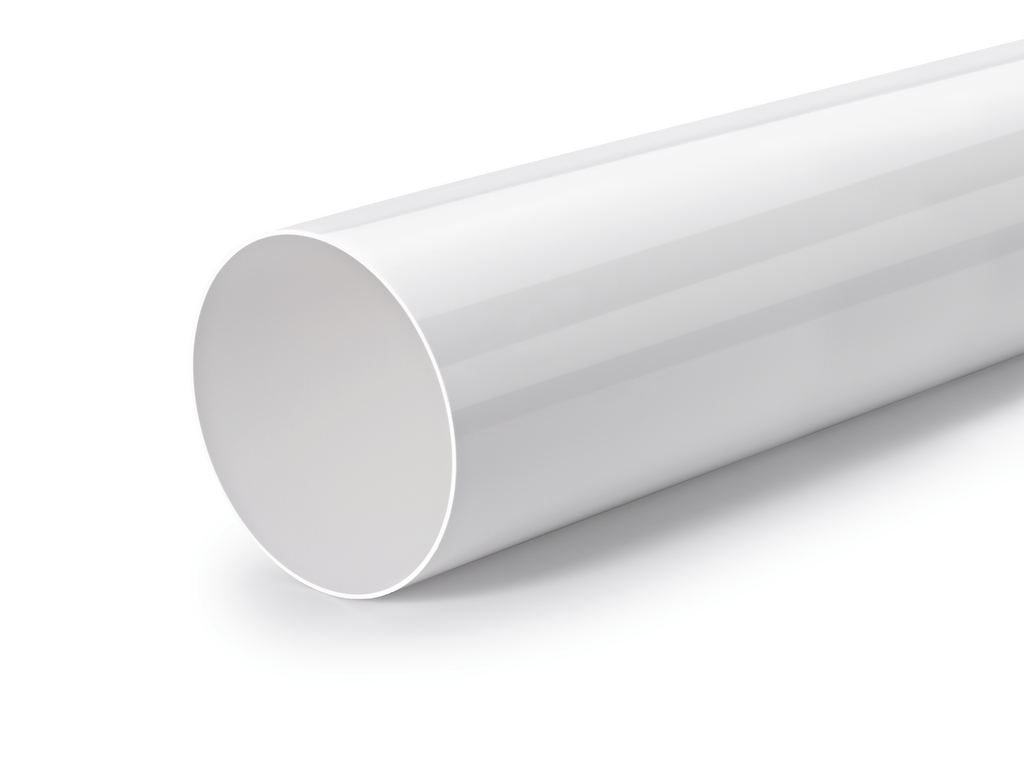 R-System 150 Rundrohr, Lüftungsrohr, weiß