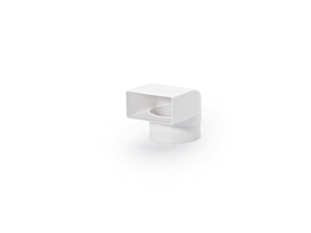 N-UR 8 System 100 Umlenkstück 90°, Verbindungselement, weiß