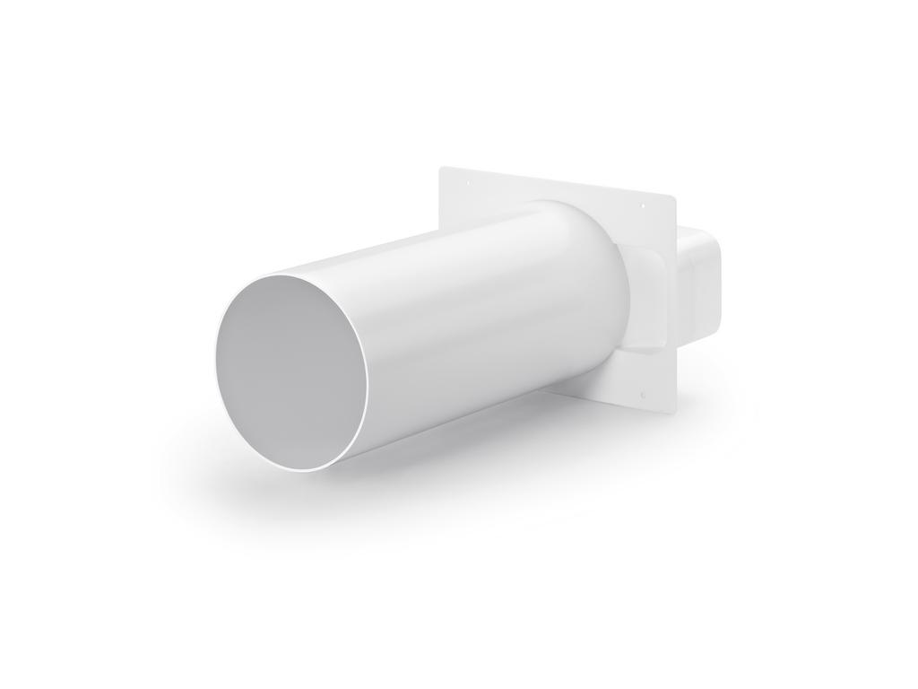 150 Maueranschlussstutzen 2, Verbindungselement, weiß