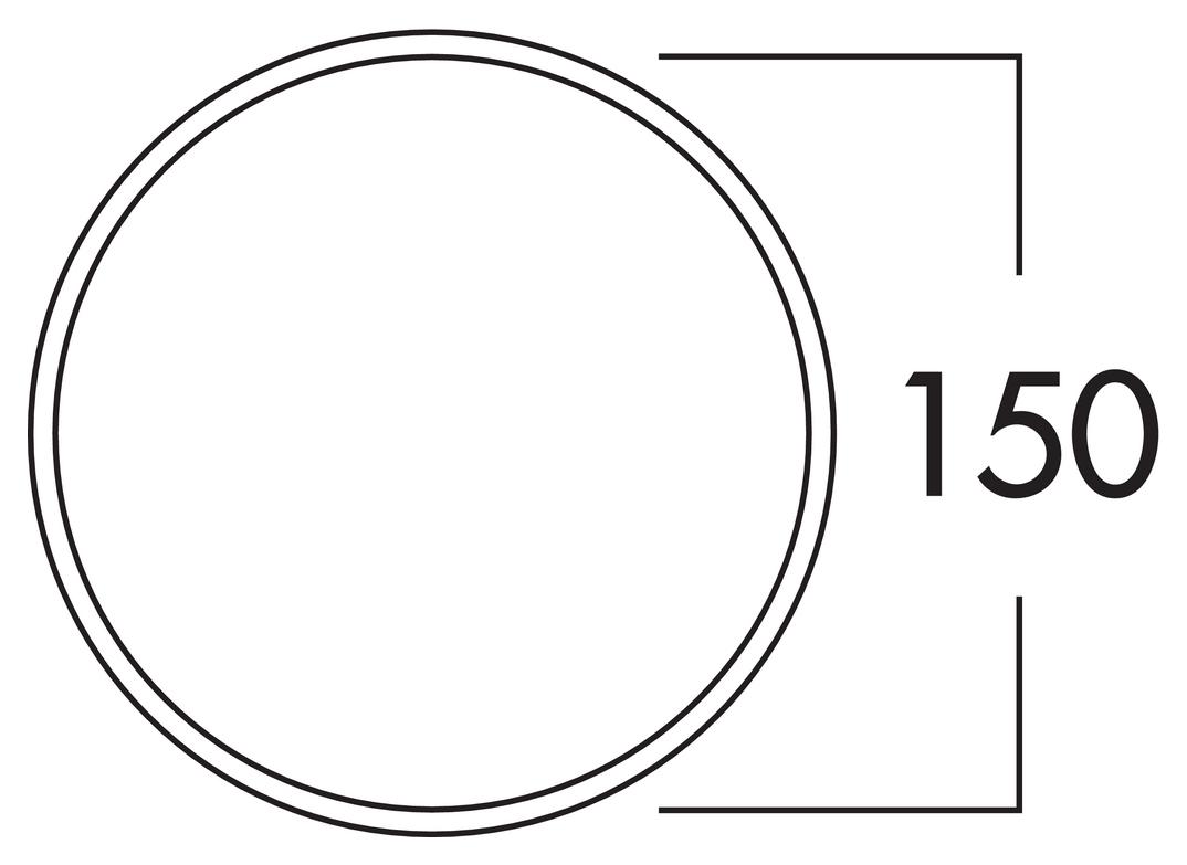 150 Maueranschlussstutzen 1, Verbindungselement, weiß