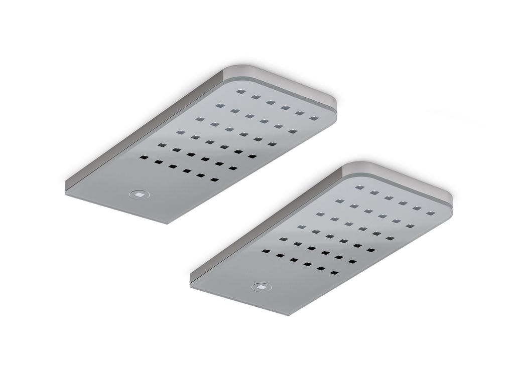 Flip® LED, Unterboden-/Nischenleuchte, Set-2, edelstahlfarbig