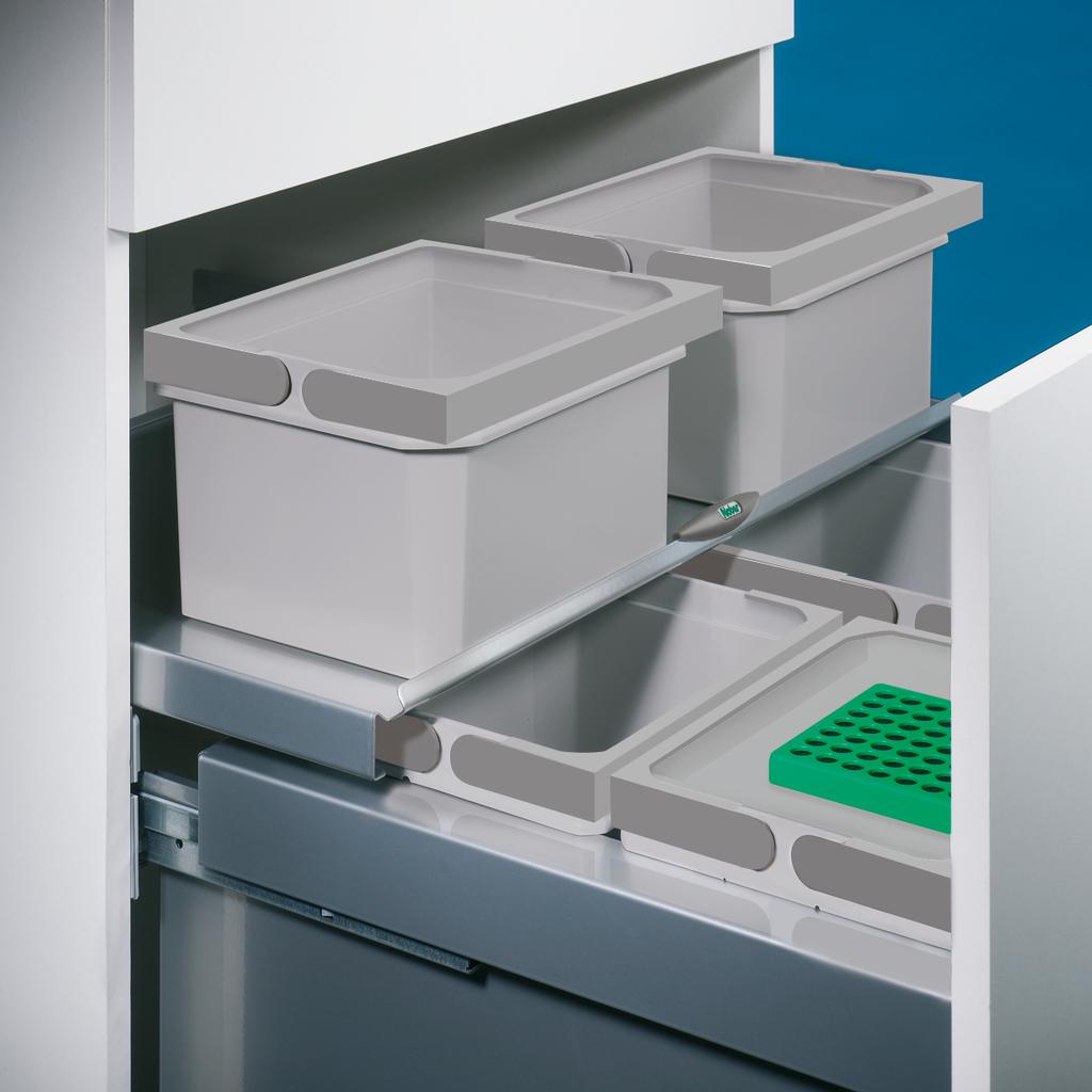 Cox® Base Einzeleimer, Abfallsammler für Frontauszüge, hellgrau