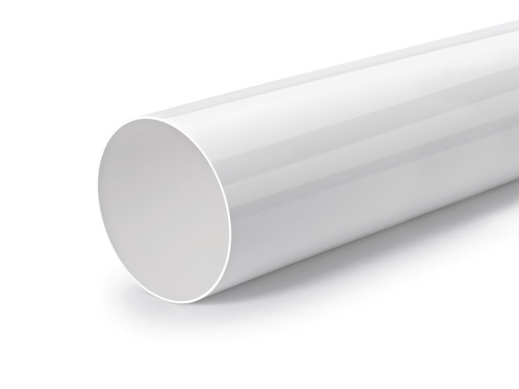 Rundrohr 150, Lüftungsrohr, weiß, L 350 mm