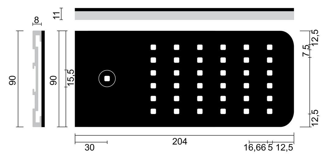 Flip® LED, Unterboden-/Nischenleuchte, Set-3, edelstahlfarbig