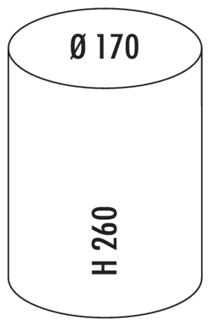 Pedal Bin 103, freistehender Behälter, rot