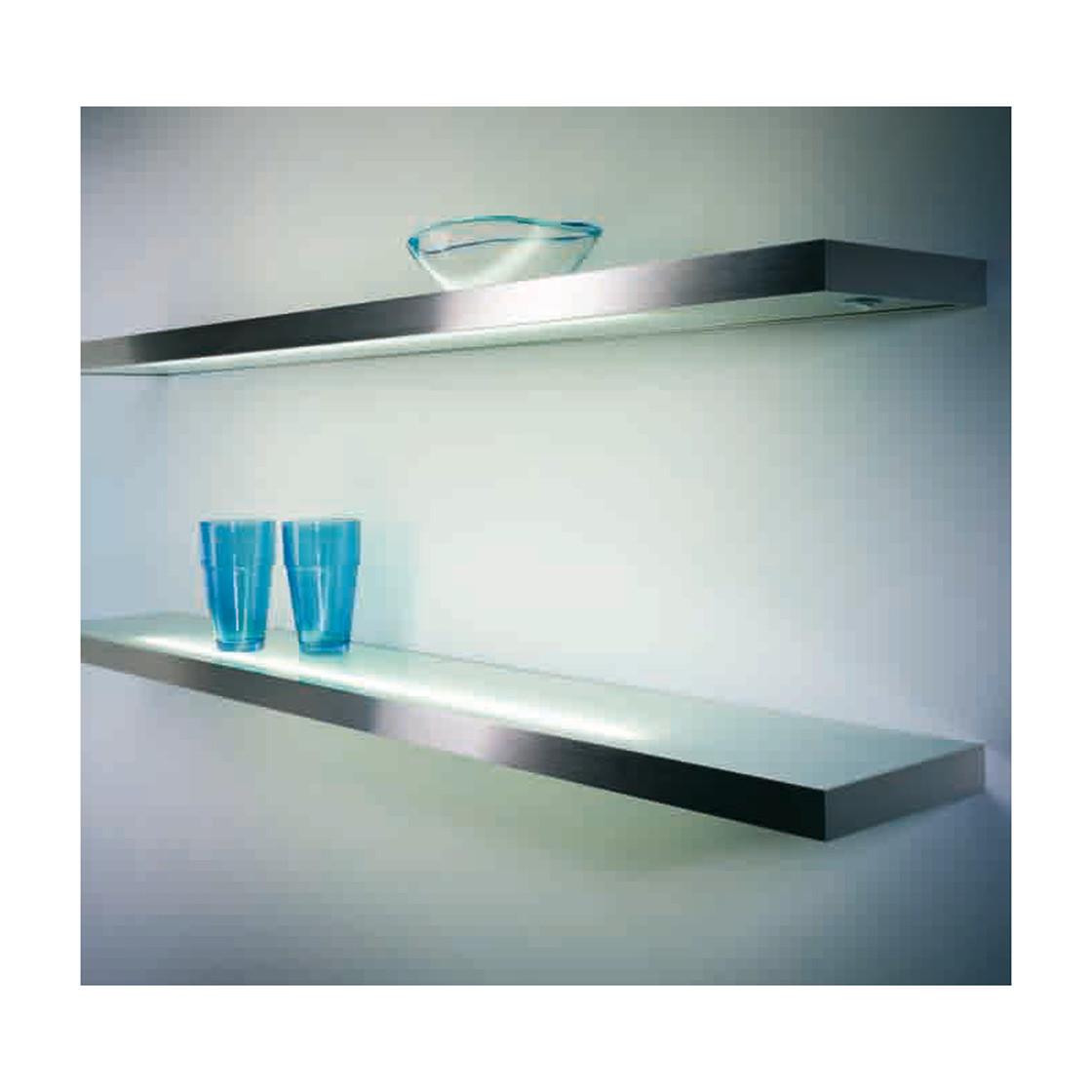 Lista 30 LED, Lichtboden, L 600 mm, 5,3 W, edelstahlfarbig