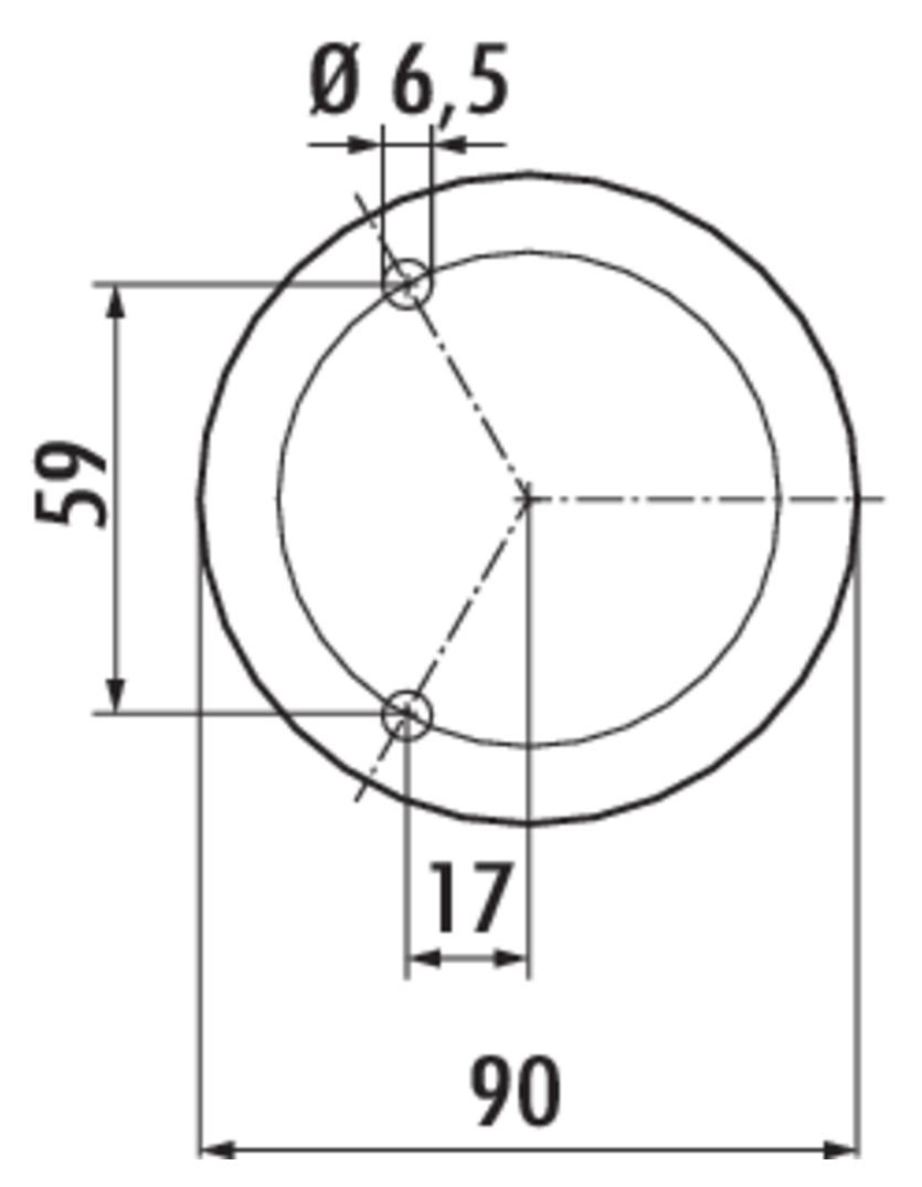 Capitello 2, Konsole, Edelstahl, H 170 mm, Rohr-Ø 45 mm
