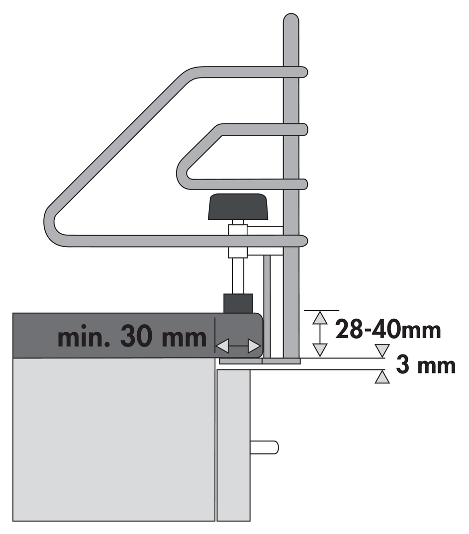 Kinderschutzgitter, Schrankausstattung, für 600er, B 678 mm