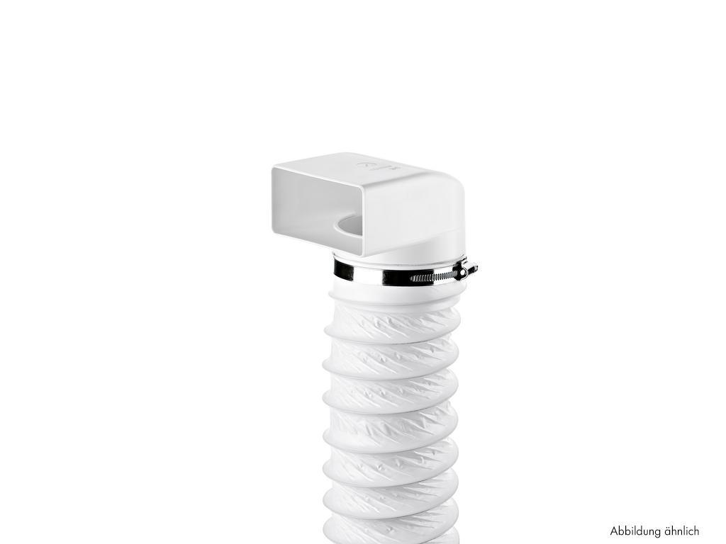 N-URX 100 Umlenkstück 90° mit Flexschlauch, Verbindungselement, weiß, L 1000 mm