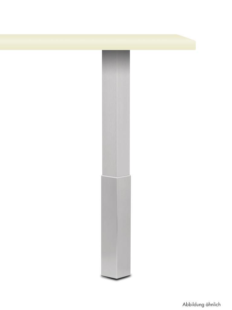 Trampolo 2 eckig, Stützfuß, edelstahlfarbig, H 1015 - 1195 mm